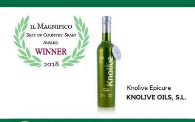 """Knolive Epicure se alza con el Premio """"Mejor de España"""" en el concurso """"Il Magnifico 2018"""""""