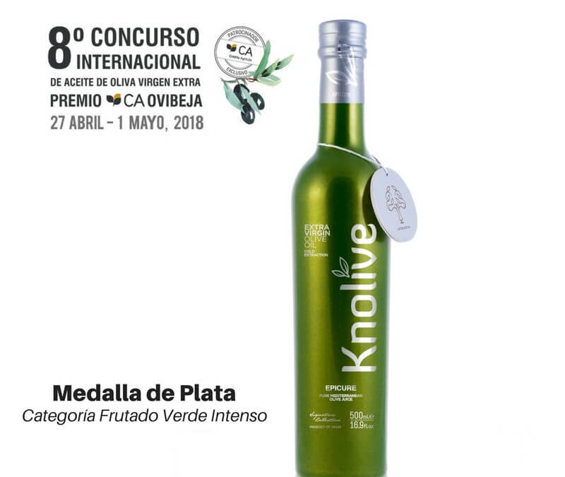 Nuestro Knolive Epicure segundo mejor Virgen Extra del mundo en la categoría de verde intenso en el 8º Concurso Ovibeja (Portugal)